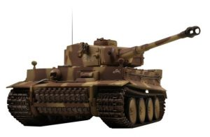 tiger 1 early production bruin rc tank infrarood panzer
