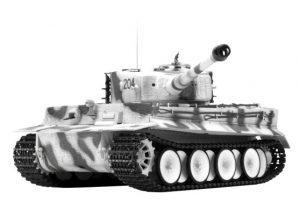 rc tiger 1 winter camouflage ir battle tank