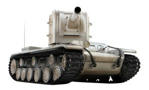kv-2 winter camouflage rc tank