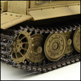 tiger 1 late version model rc tank desert camouflage